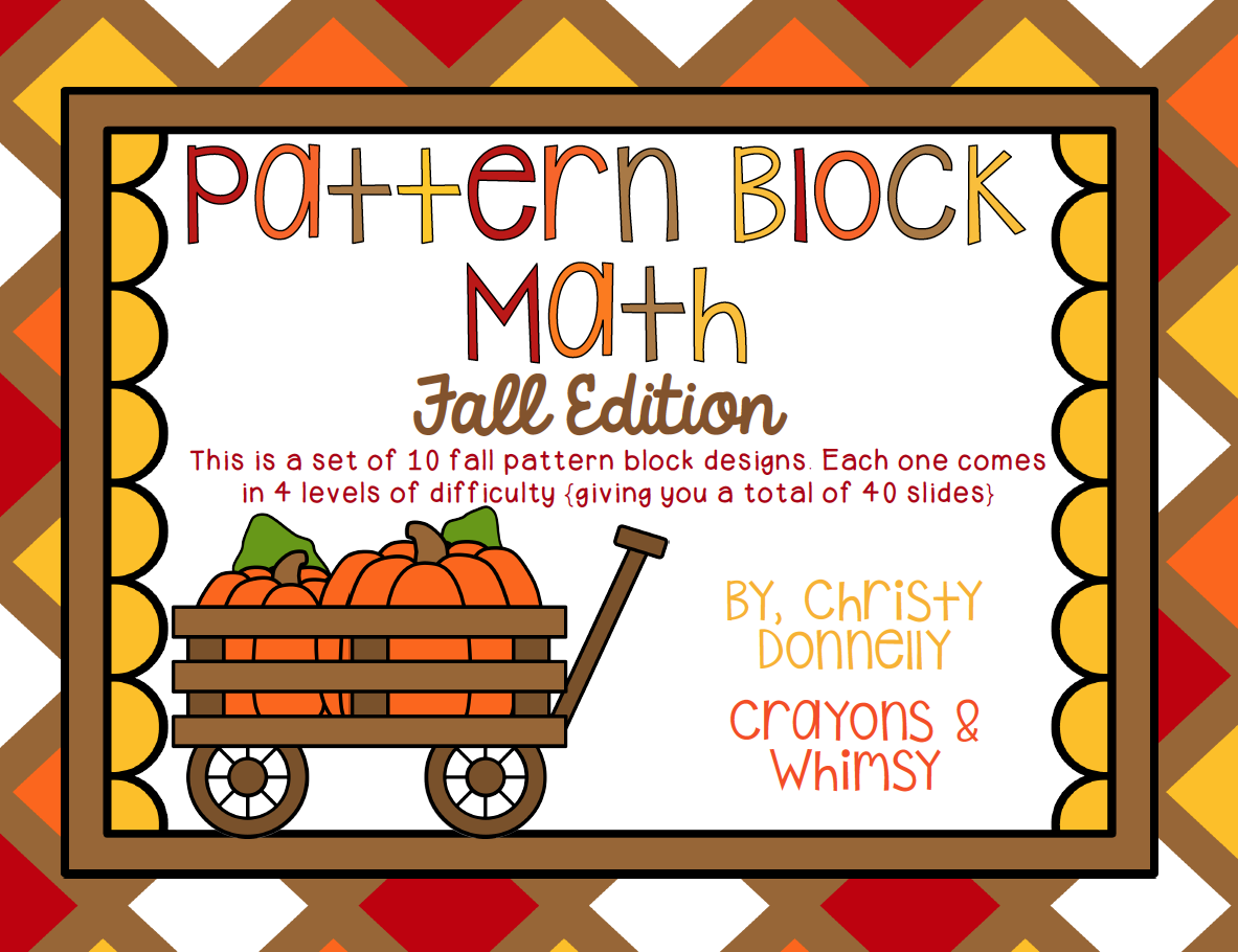 Pattern Block Fall Crayons and Whimsy