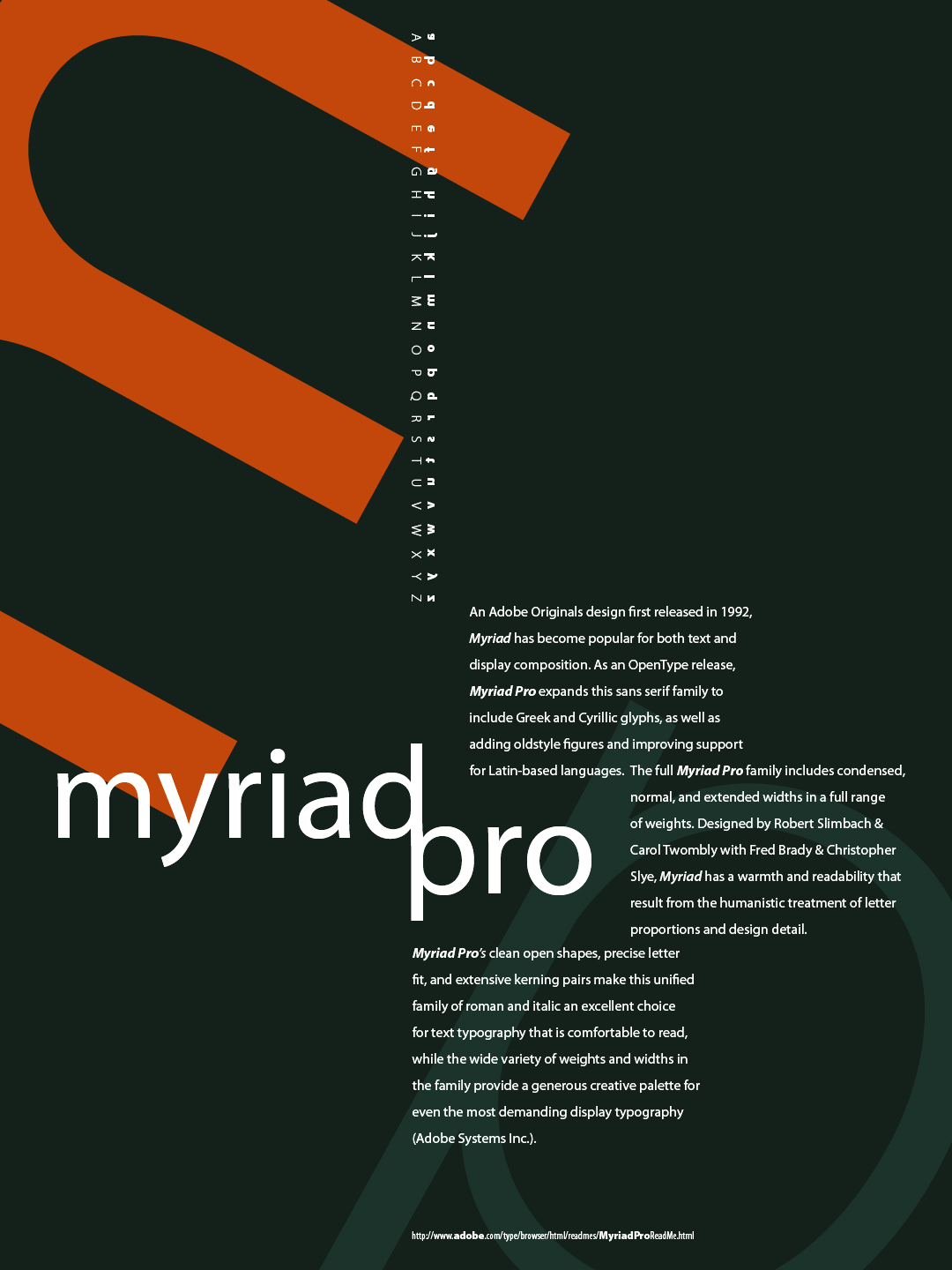 how to use myriad pro font in html