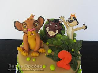 disney rei leão bolo aniversário