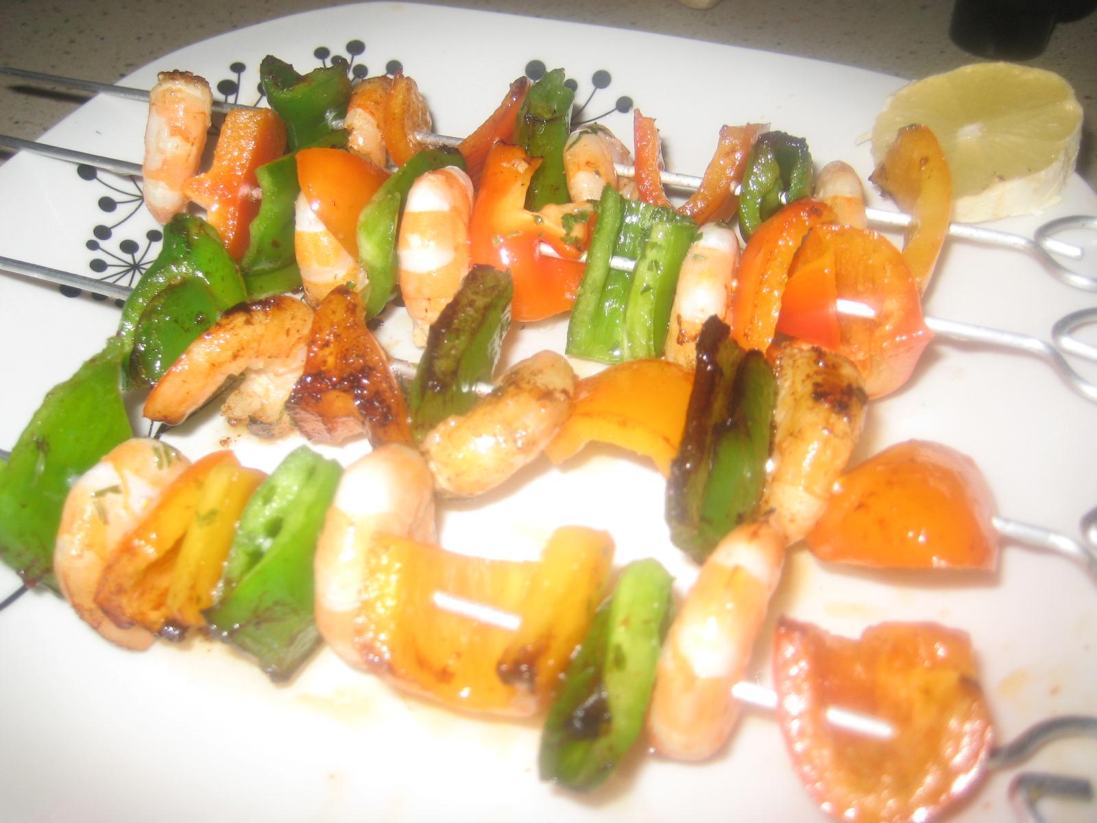 Brocheta de langostinos con verduras la cocina con mimo - Brocheta de langostinos y bacon ...