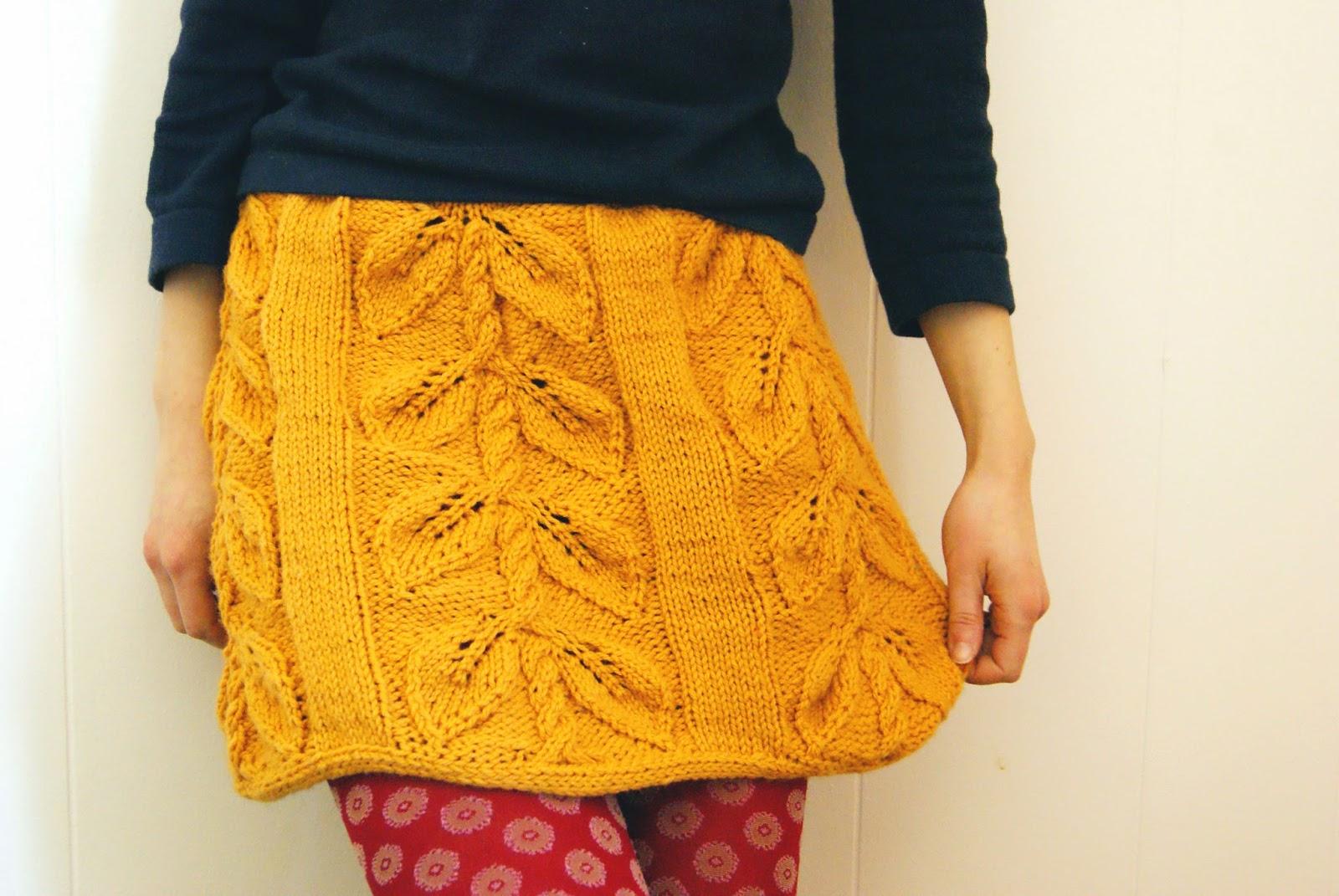haricot patron de jupe à tricoter