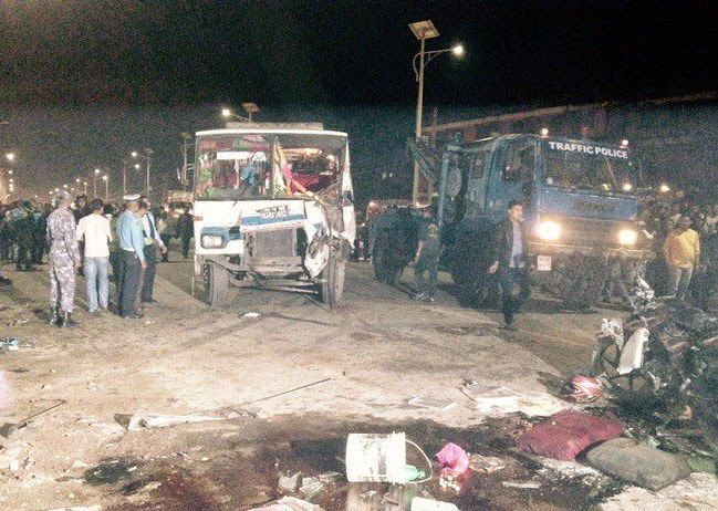 3 killed 8 injured in babarmahal kathmandu bus accident