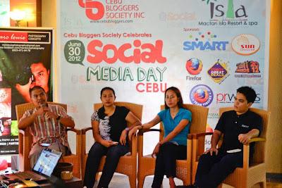 The Speakers (R-L: Max Limpag; Fleire Castro; Laureen Jean Mondoñedo; Orville Tadle)