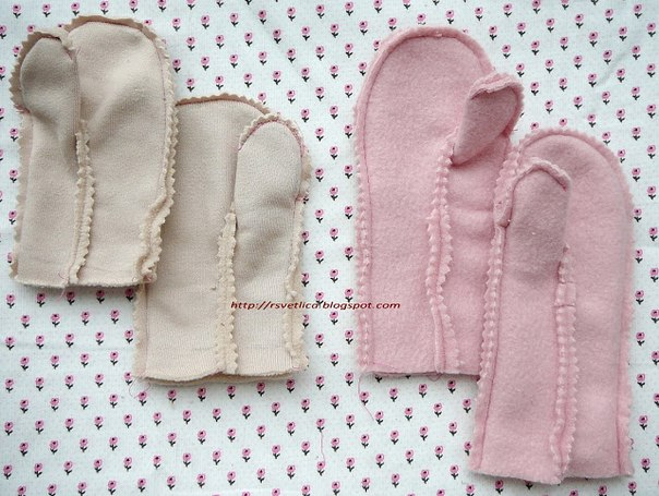 How to sew fleece mittens, fleece mittens pattern