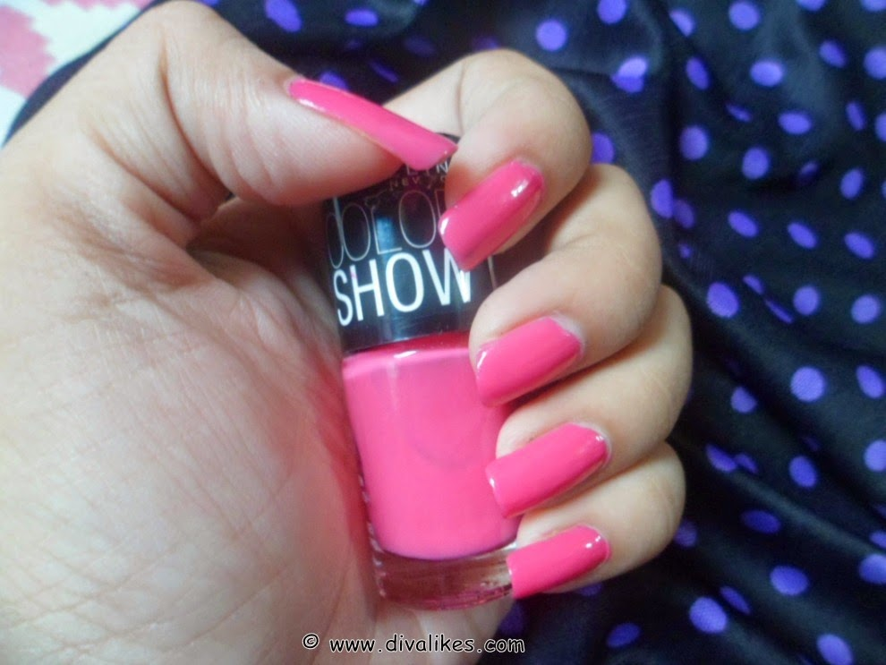 Maybelline Color Show Nail Lacquer Fiesty Fuschia Review | Diva Likes