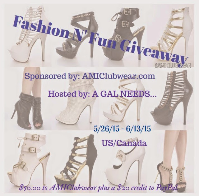 Enter the AMI Clubwear Fashion N' Fun Giveaway. Ends 6/13