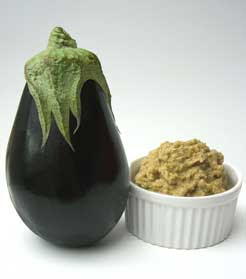 aubergine and its caviar