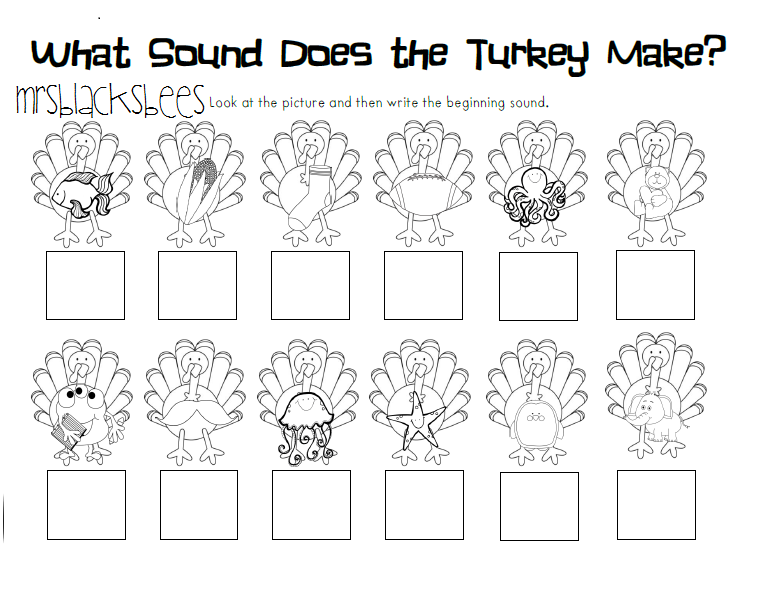 Number Names Worksheets thanksgiving kindergarten worksheets – Kindergarten Thanksgiving Worksheet