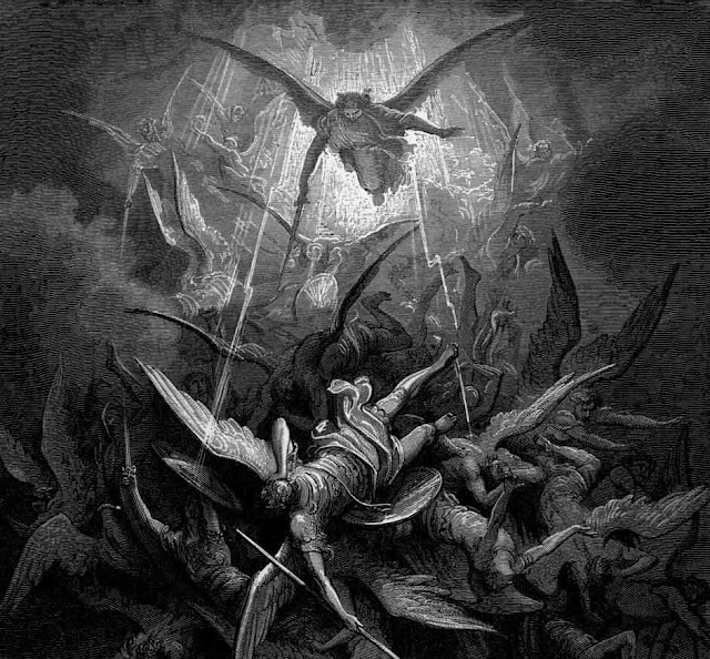 Satan Cast Down From Heaven by Gustav Dore