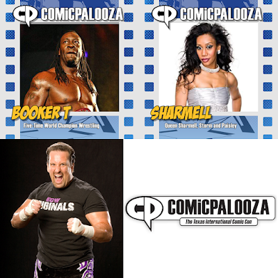 Comicpalooza 2015 WWE Professional Wrestling Guests - Booker T, Sharmell & Tommy Dreamer