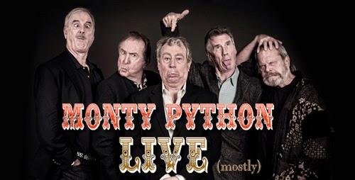 Los miembros del grupo cómico Monty Python en 2014