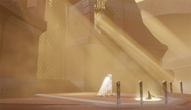 Journey game screenshot praying