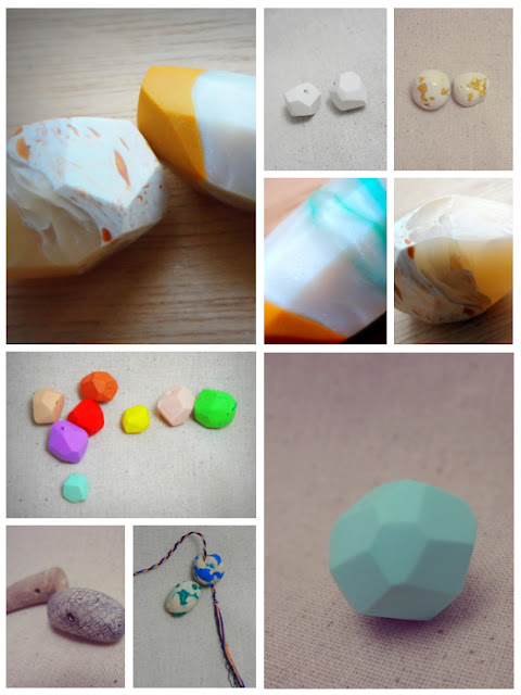 handmade polymer clay beads collage by JoseeMM