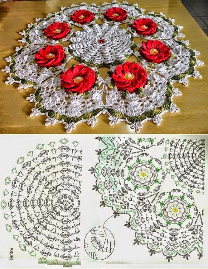 Carpeta con centro floral