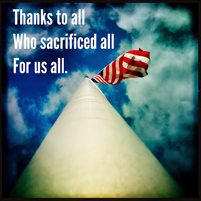 Thanks to all / who sacrificed all / for us all. // memorial day // haikumages