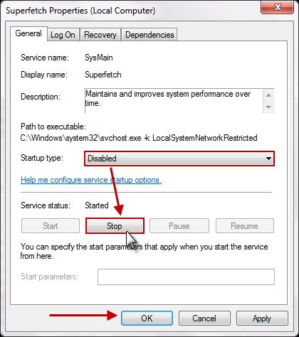 SuperFetch Disable Stop Cara Mencegah Penggunaan Memori Berlebih Pada Windows 7
