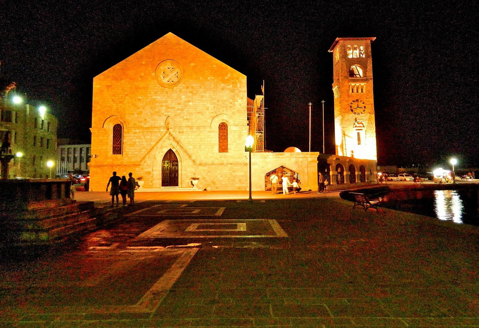 Igreja de Evangelismou ( Anunciação ) na Cidade Nova de Rodes. O  #C48407 1600 1097