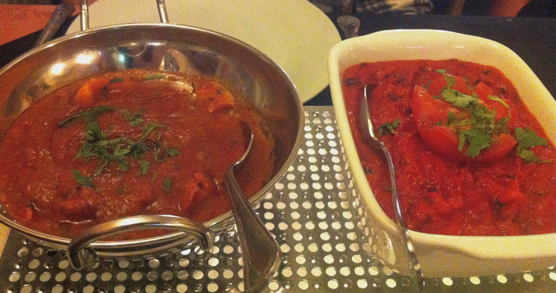 Bengal Cottage - Chicken Tikka Madras and Chef's Special Bhuna Massala