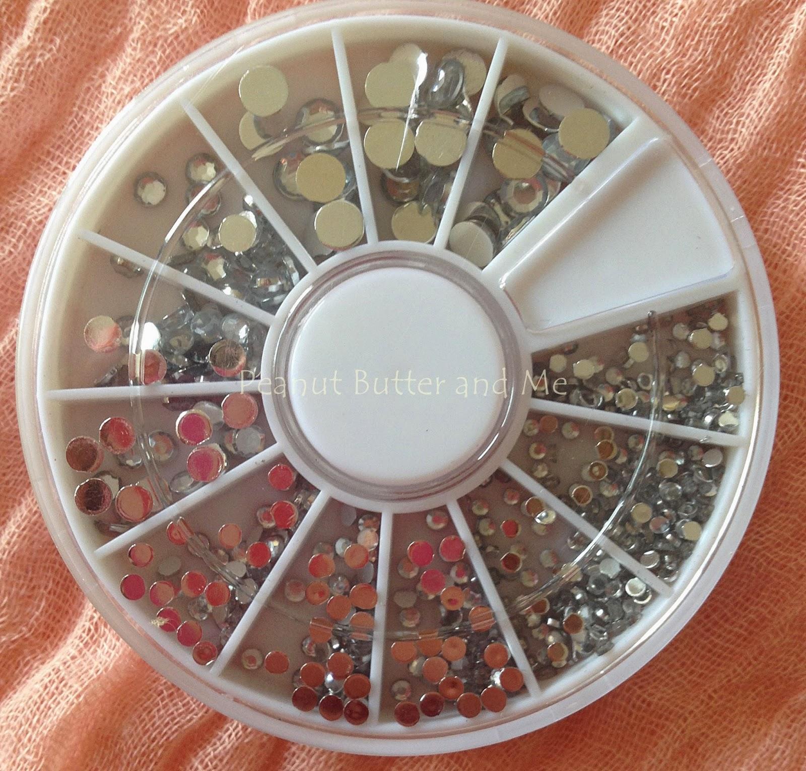 ebay nails amio glitter perl sticker nail art water