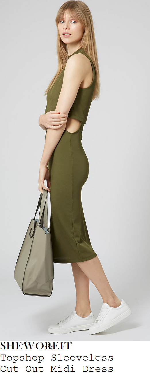 sam-faiers-khaki-green-sleeveless-cut-out-midi-dress-dubai