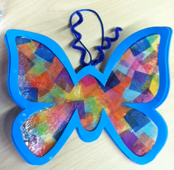 Activities for children and teens april 2012 for Butterfly art and craft