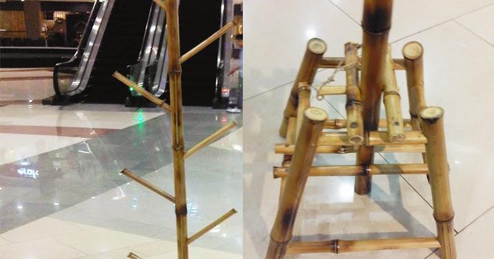 Juragan Bambu: Rak Gantungan Topi dan Tas