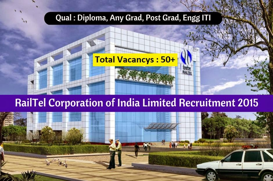 RailTel Corporation of India Limited Recruitment 2015 For  Senior Manager / Deputy Manager (Data Centre/ IT/MPLS)
