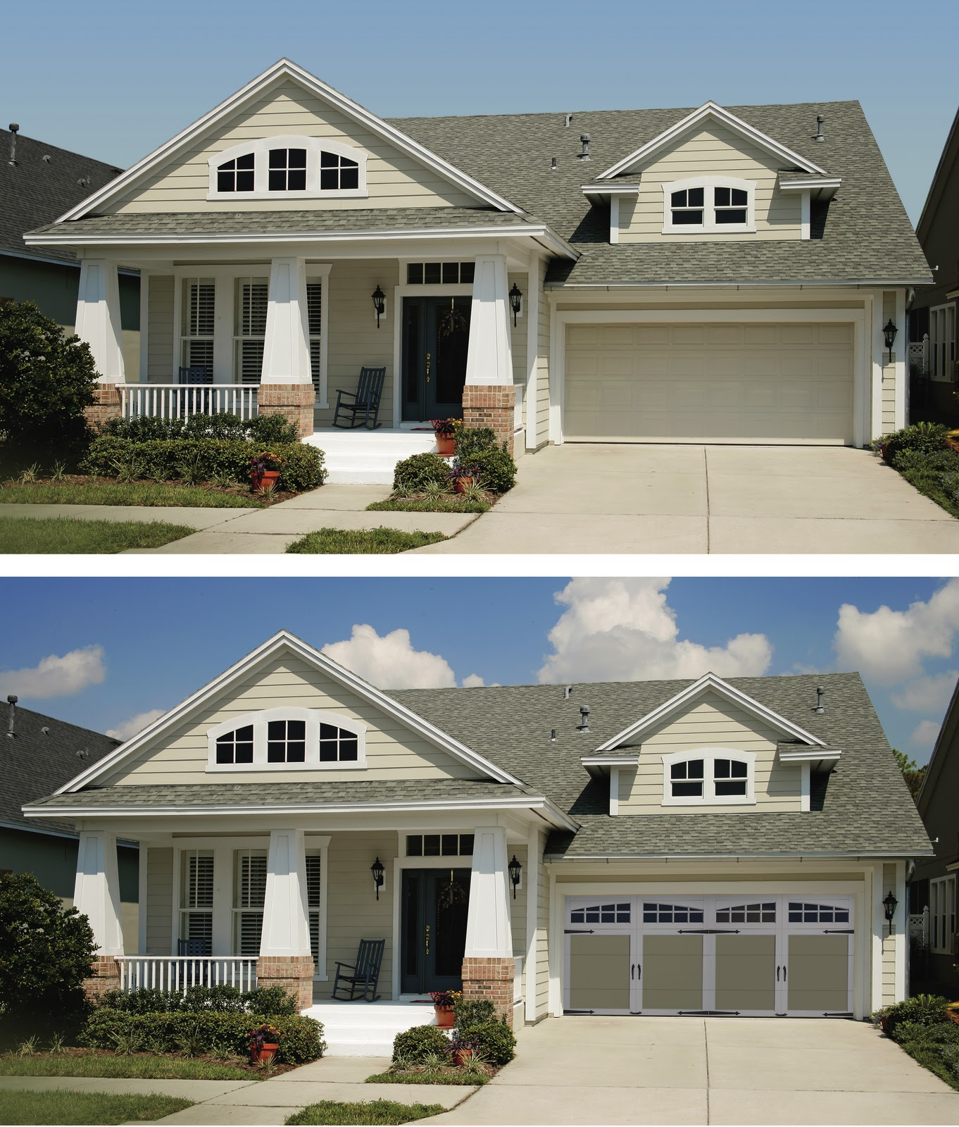 The precision garage door guy curb appeal for Garage door curb appeal