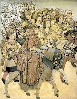 Los Reyes Catolicos. El Cardenal Cisneros y el Gran Capitán entrando en Granada. Lacasamundo.com