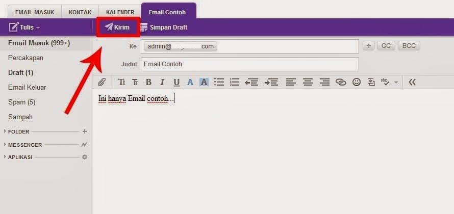 cara menulis email di yahoo mail