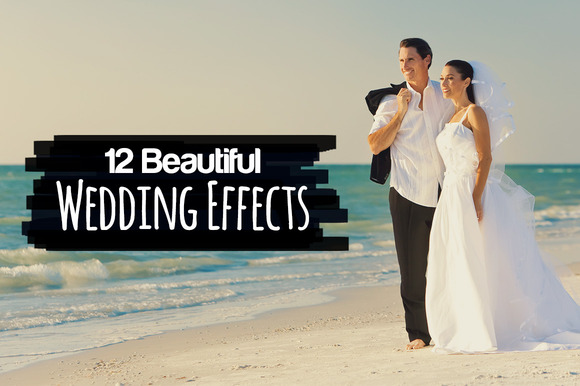 Photoshop actions simulate wedding photography