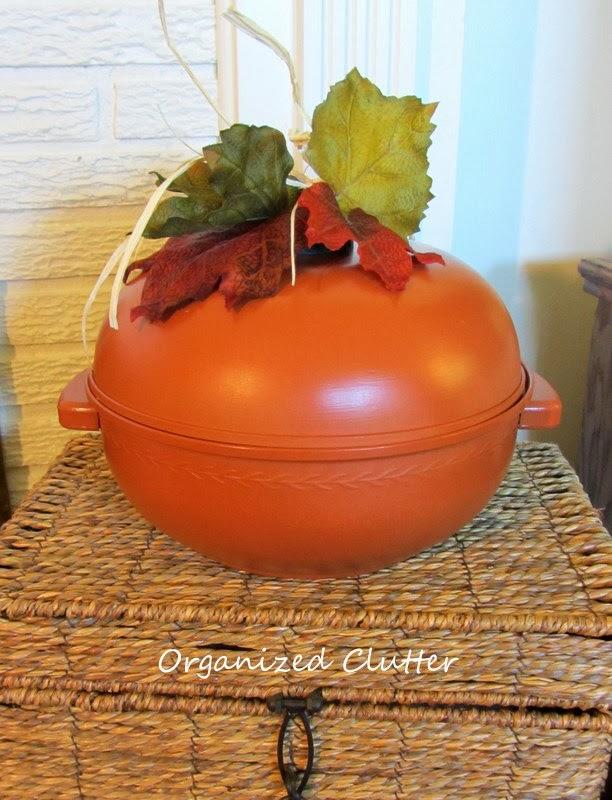 Vintage Bun Warmer Repurposed As A Pumpkin Organized Clutter - Diy bun warmer