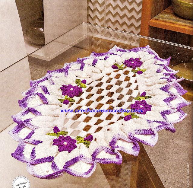 croche com receitas centro de mesa em croche com flores
