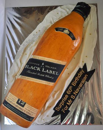 Johnnie Walker Blue Label Cake http://izahskitchen.blogspot.com/2012/02/johnny-walker-black-label-cake.html