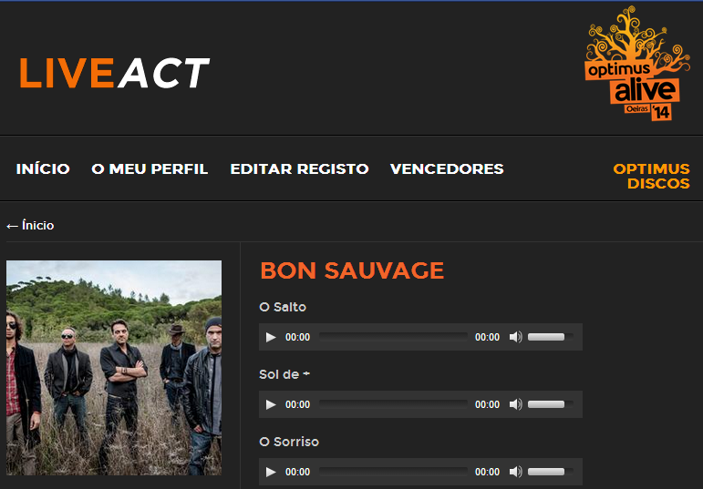 Bon Sauvage no Optimus Alive