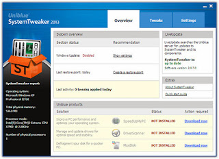 Download System Tweaker 2013 v2.0.7.1 Full Key Terbaru