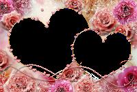 Moldura dois coração