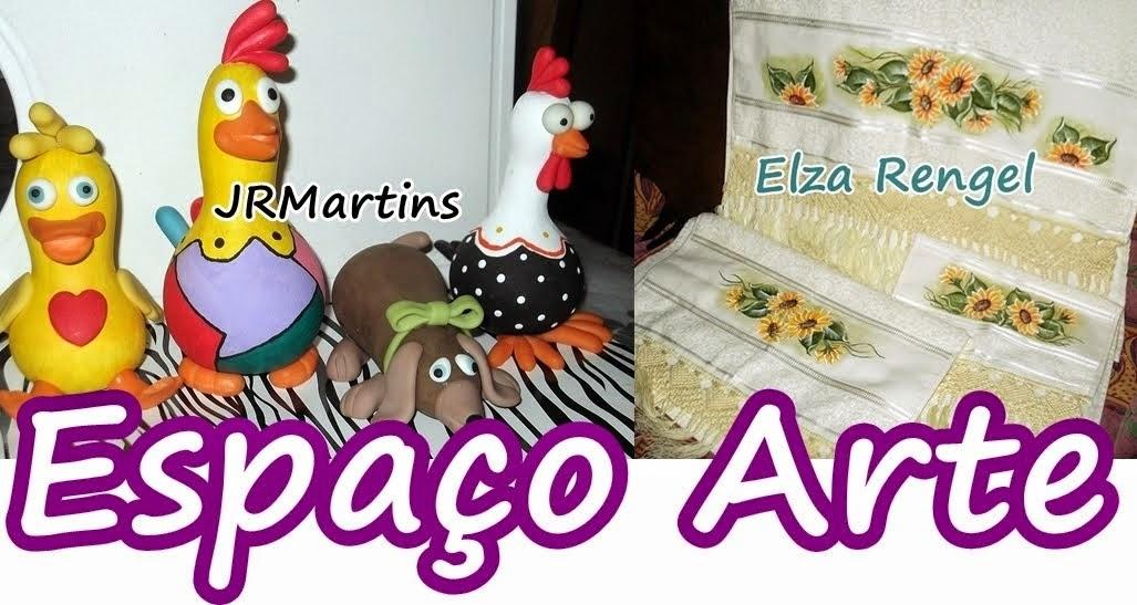 ESPAÇO ARTE                                                    Biscuit, pinturas, macramé e croché.