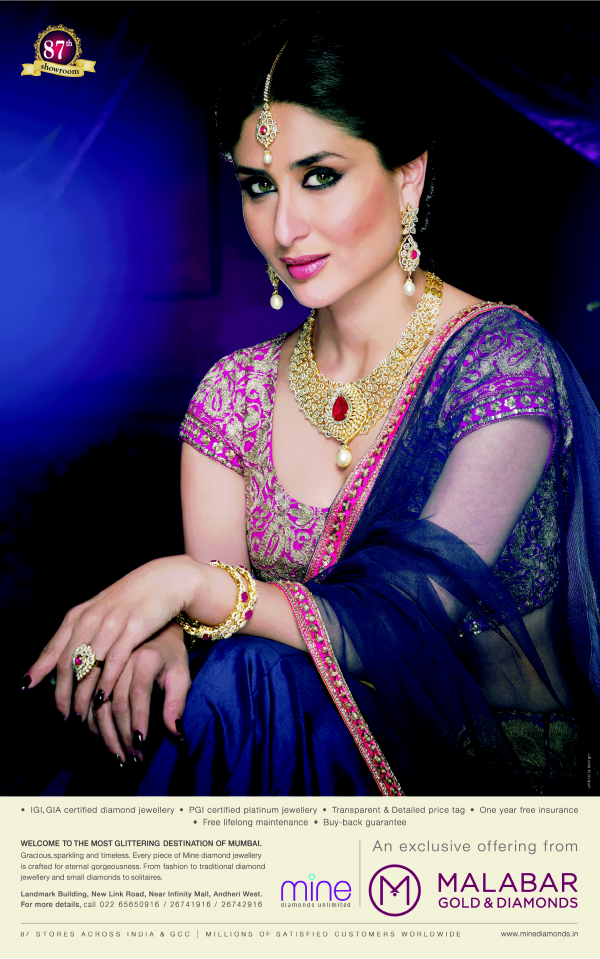 Kareena Kapoor Khan's Malabar Gold & Diamonds New Print Ad