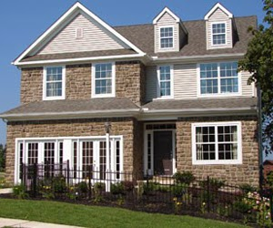 New home by Lancaster home builder Keystone Custom Homes