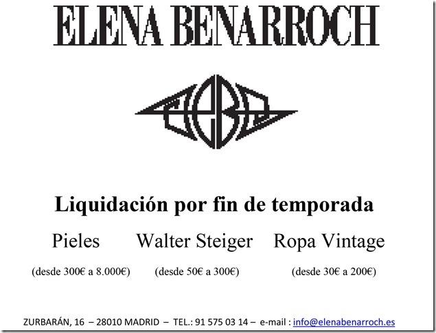 Elena Benarroch Liquidación Fin de Temporada