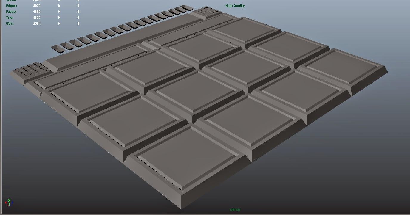 3d Floor Panels : Aaron quiney d environment artist metal floor panels