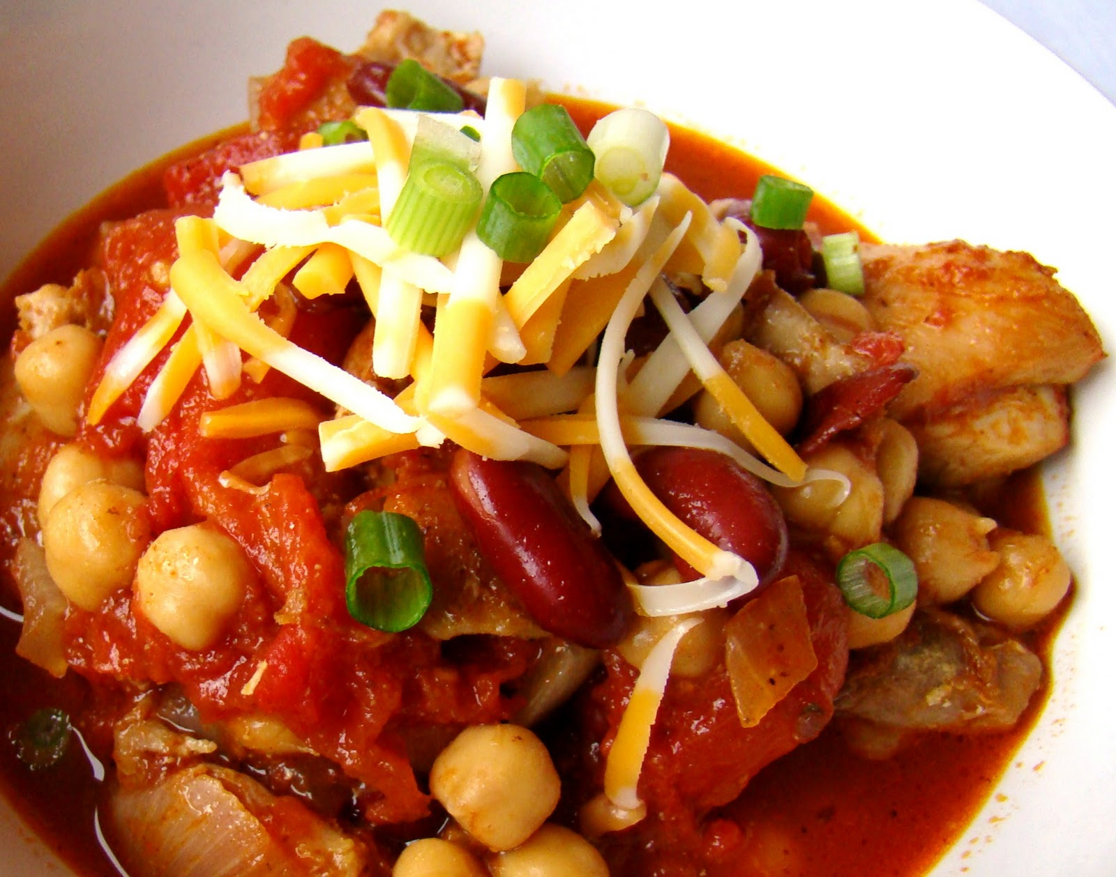 This chunky chicken chili may have been spontaneous the first time ...