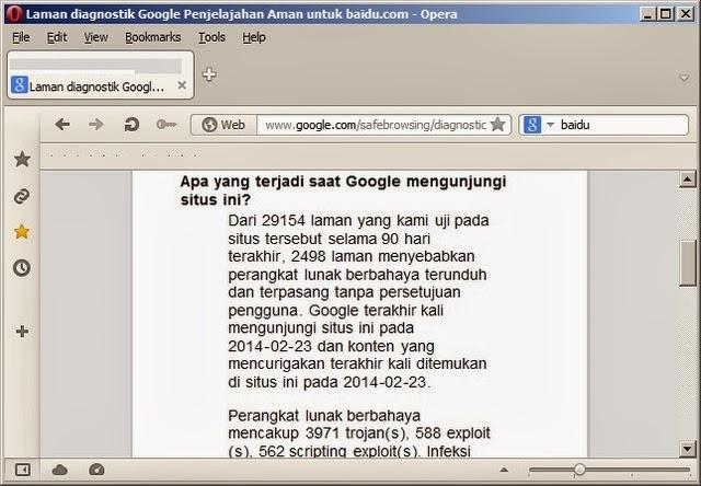 cek website aman atau berbahaya dengan Google Safebrowsing Diagnostic