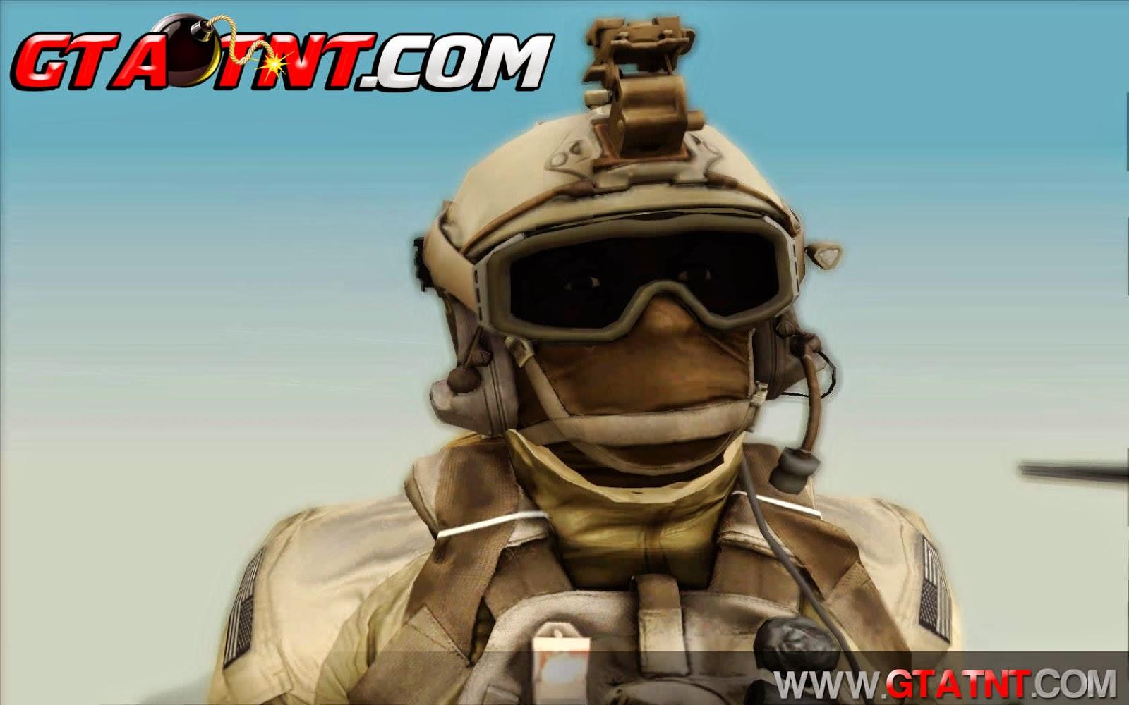Pack de skins convertidas do Battlefield 4 para GTA San Andreas