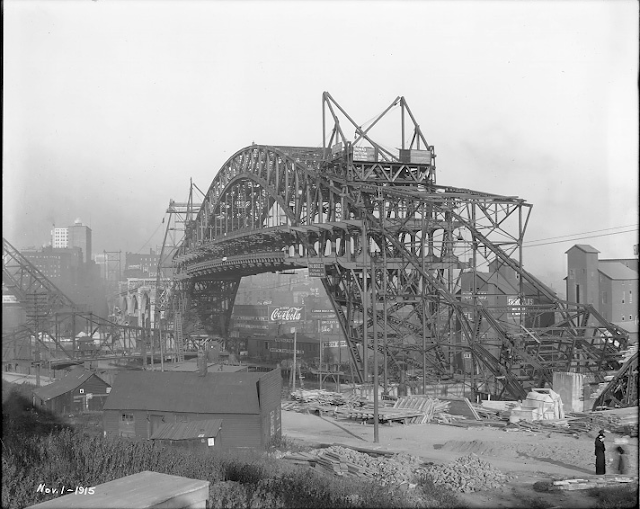 Detroit-Superior (Veterans' Memorial) Bridge, 1 Nov. 1915 #vintage #cleveland #ohio