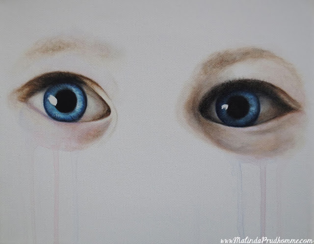 custom eye painting, baby eyes, blue eyes, blue eye painting, original artwork, custom artwork. portrait artist, malinda prudhomme, toronto custom artist
