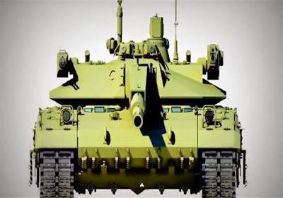 """ظهور دبابة """"أرماتا"""" الروسية في عرض عسكري بحضور السيسي"""