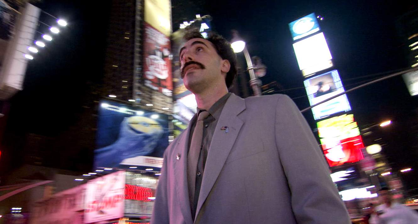 borat essay Borat on the other hand is showing us his first film which he did not direct, was not the sole writer, and did write the music for (which chaplin also took responsiblity for) he is a modern comic living in tragic times.