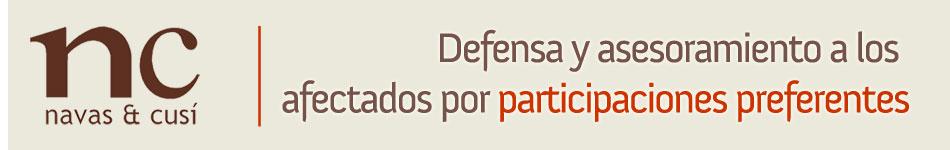 Participaciones preferentes defensa y asesoramiento a los afectados  I Navas Cusí Abogados